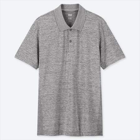 ユニクロのドライEXポロシャツ(半袖)のグレー