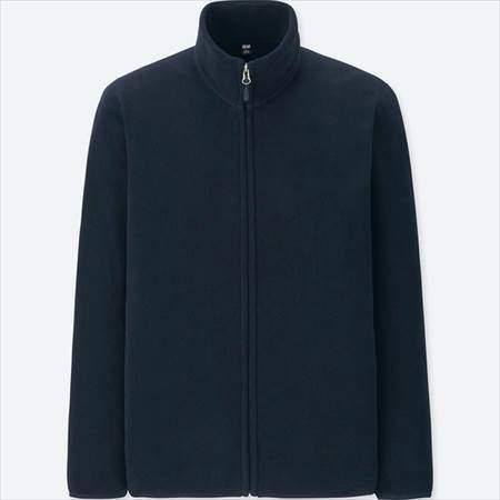 ユニクロのフリースフルジップジャケット(長袖)のネイビー