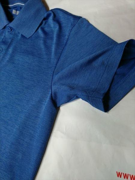 ユニクロのエアリズムパフォーマンスサポートTシャツ(長袖)の上に重ね着するのにおすすめのドライEXのポロシャツ