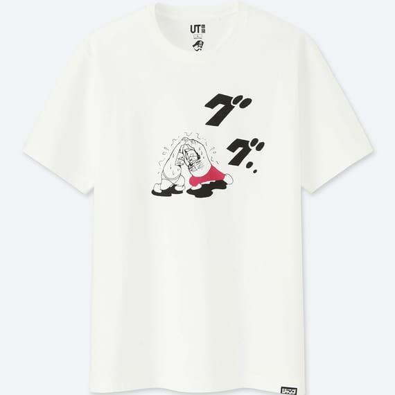 ユニクロのラーメンコラボTシャツのキン肉マンの表面
