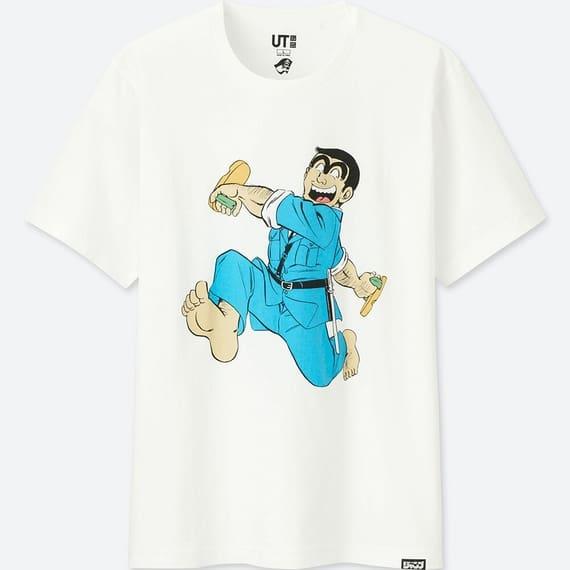 ユニクロのラーメンコラボTシャツのこち亀の両さん