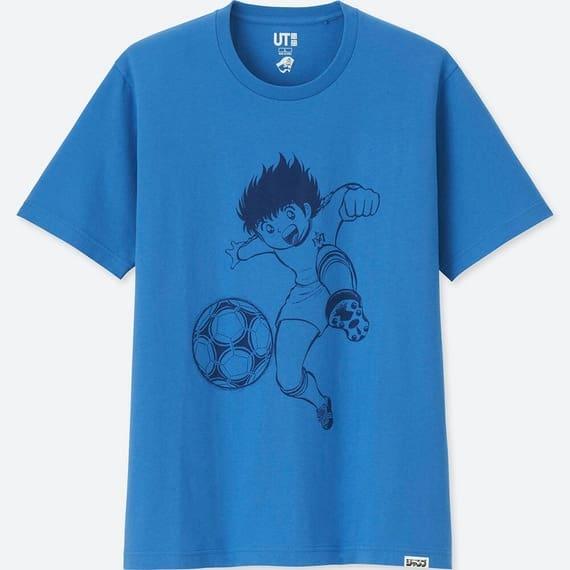 ユニクロのラーメンコラボTシャツのキャプテン翼の青色