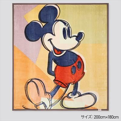 ディズニー ミッキー マウス アート バイ アンディ・ウォーホル ヒートテックモウフ(ダブル)