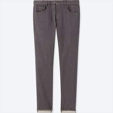 ユニクロのセルビッジジーンズのグレー