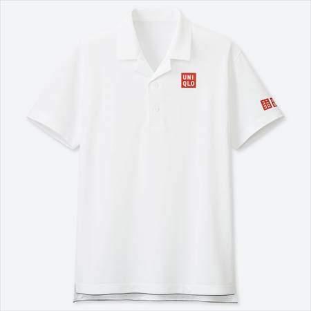 ユニクロのRFドライEXポロシャツ(半袖)19AUSのホワイト