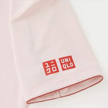 ユニクロのフェデラーモデルのRFドライEXポロシャツ(半袖)18SHの袖のパイピング加工