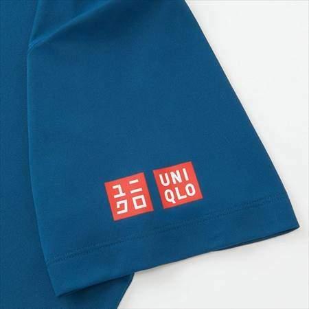 ユニクロのRFドライEXポロシャツ(半袖)19AUSの袖口のロゴ
