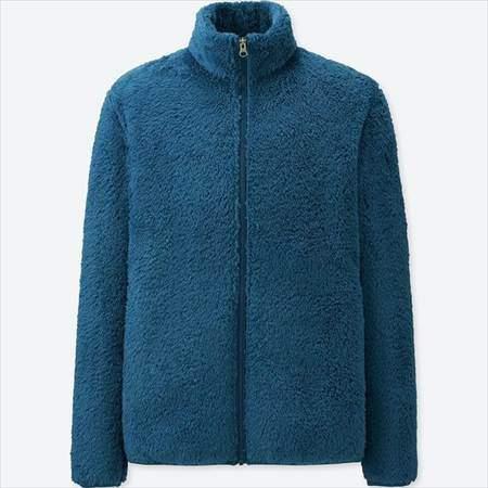 ユニクロのファーリーフリースフルジップジャケットのブルー