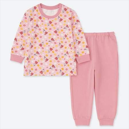 ユニクロのムーミンパジャマのピンク(80-110サイズ)
