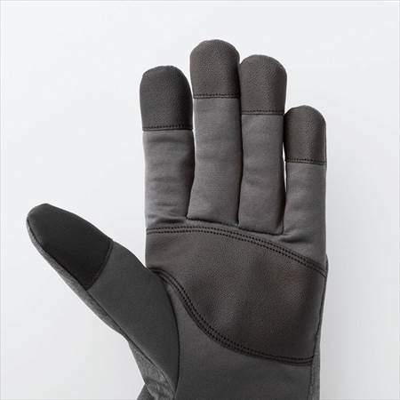ユニクロのヒートテックライナーファンクショングローブの手のひら側のアップ