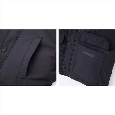 ユニクロのノンキルトダウンジャケットのハンドウォーマーと前ポケット