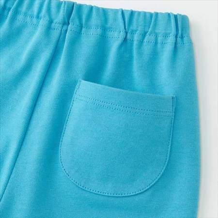 ユニクロのムーミンパジャマのブルー(80-110サイズ)のパンツの後ろポケット