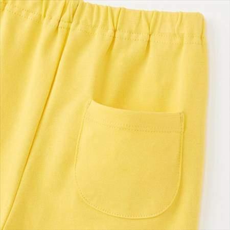 ユニクロのムーミンパジャマのイエロー(80-110サイズ)のパンツの後ろポケット