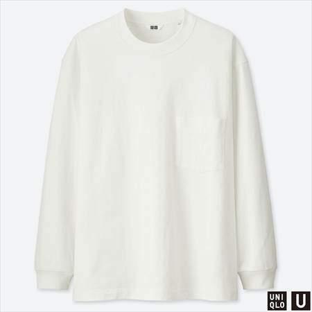 ユニクロUのクルーネックT(長袖)のホワイト