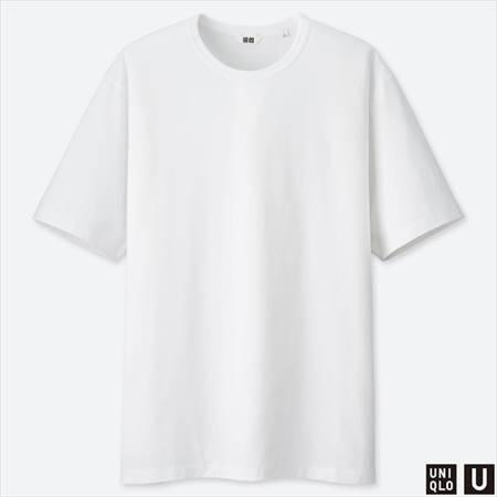 ユニクロUのスーピマコットンTシャツ(半袖)のホワイト