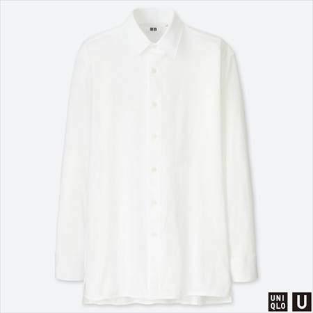 ユニクロUのスーピマコットンジャージーシャツ(長袖)のホワイト
