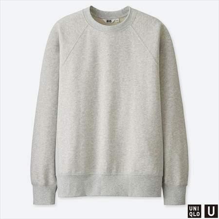 ユニクロUのスウェットシャツ(長袖)のグレー
