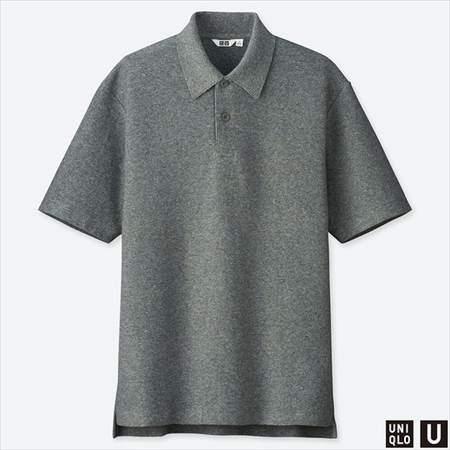 ユニクロUのポロシャツ(半袖)のグレー