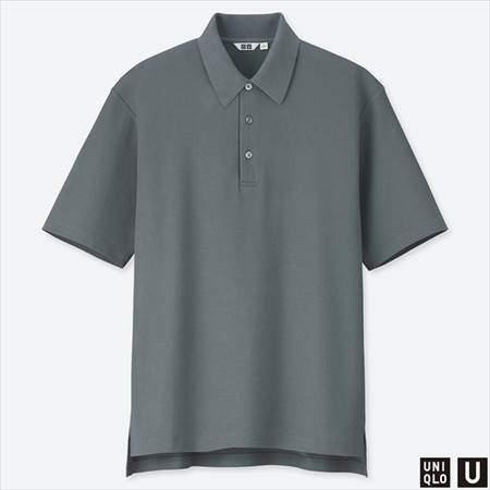 ユニクロUのスーピマコットンポロシャツ(半袖)のグレー