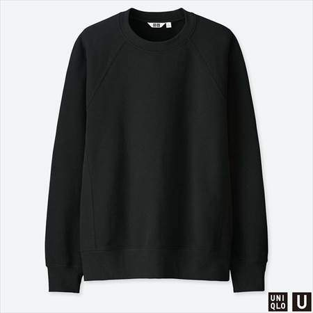ユニクロUのスウェットシャツ(長袖)のブラック