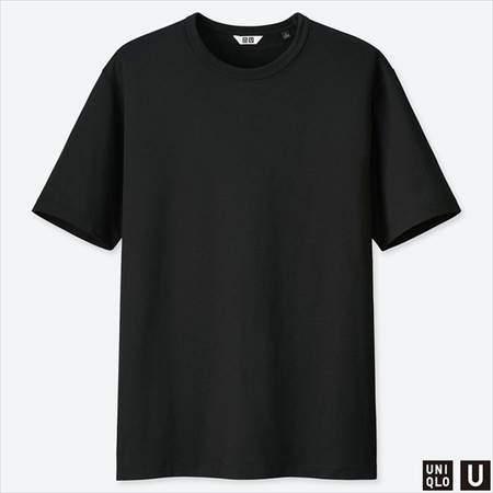 ユニクロUのスーピマコットンTシャツ(半袖)のブラック