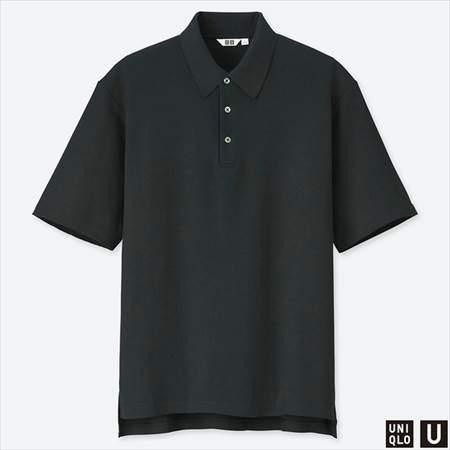 ユニクロUのスーピマコットンポロシャツ(半袖)のブラック