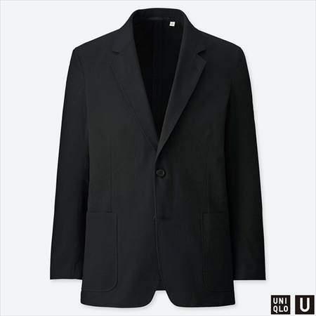 ユニクロUのシアサッカージャケットのブラック