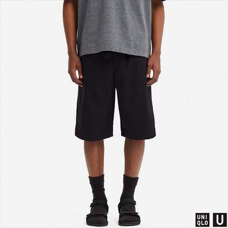 ユニクロUのバスケットボールハーフパンツのブラック