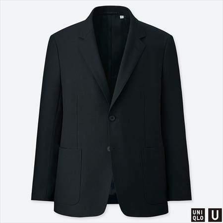 ユニクロUのテーラードジャケットのブラック