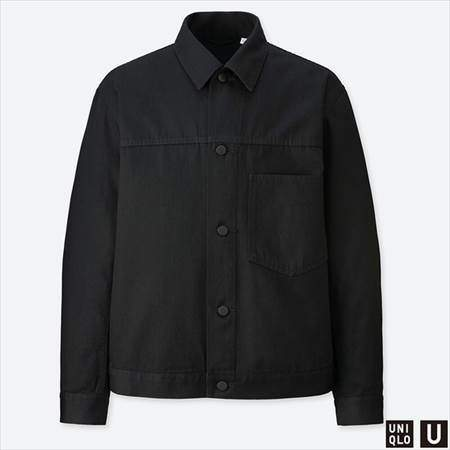ユニクロUのデニムジャケットのブラック
