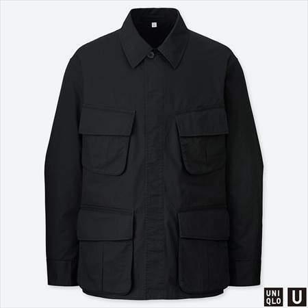 ユニクロUのミリタリージャケットのブラック