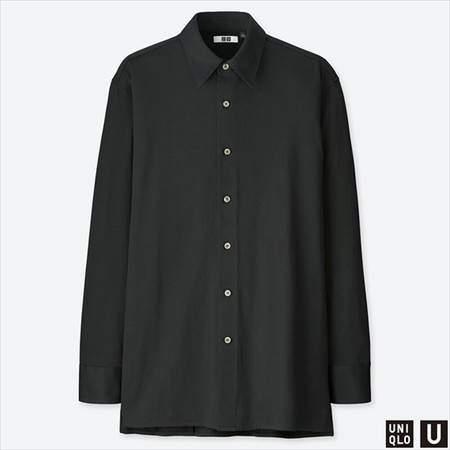 ユニクロUのスーピマコットンジャージーシャツ(長袖)のブラック