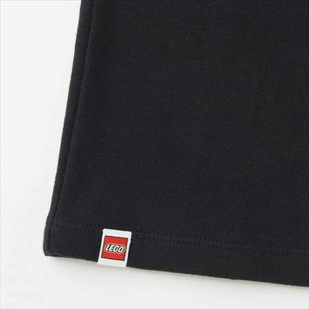 ブラックのレゴスウェットセット(キッズ)の裾のタグのオモテ側