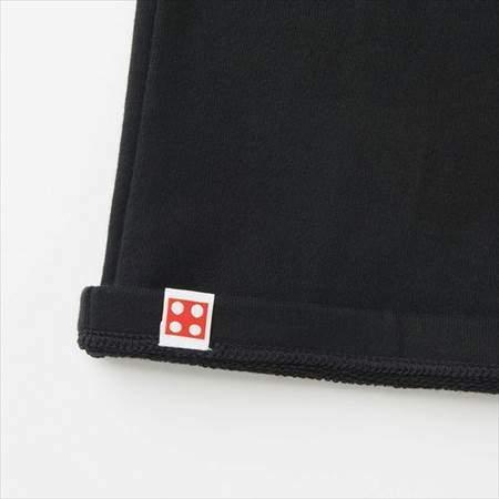 ブラックのレゴスウェットセット(キッズ)の裾のタグのウラ側
