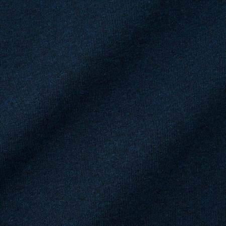 ユニクロUのクルーネックT(半袖)の生地のアップ