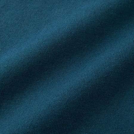 ユニクロUのコットンカシミヤクルーネックセーター(長袖)の生地のアップ