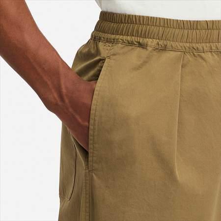 ユニクロUのイージーワイドフィットテーパードパンツのサイドポケットのアップ