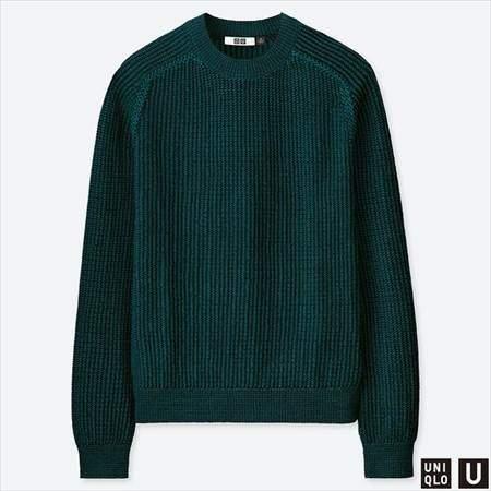 ユニクロUのコットンクルーネックセーター(長袖)