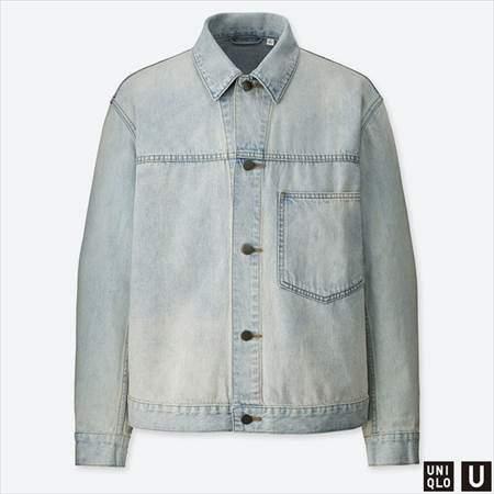 ユニクロUのデニムジャケットのブルー