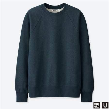 ユニクロUのスウェットシャツ(長袖)のブルー