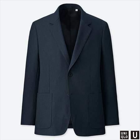 ユニクロUのテーラードジャケットのネイビー