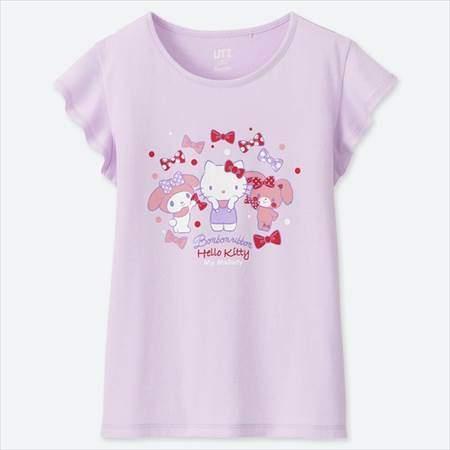 GIRLS サンリオキャラクターズグラフィックT(半袖)のパープル