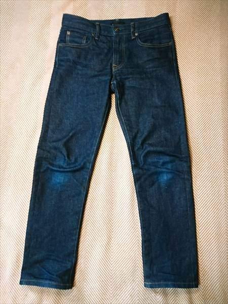 ユニクロのセルビッジジーンズを3か月はいた状態の全体の表側