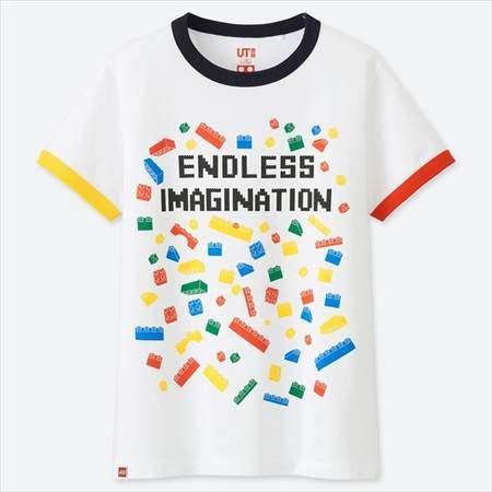 ユニクロのKIDSレゴグラフィックT(半袖)