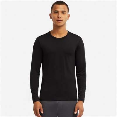 ユニクロのエアリズムクルーネックT(長袖)のブラック