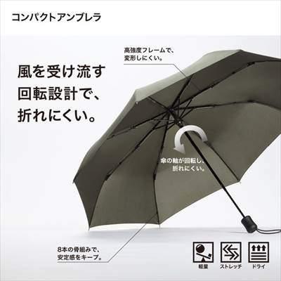 ユニクロのコンパクトアンブレラ(折りたたみ傘)の特徴