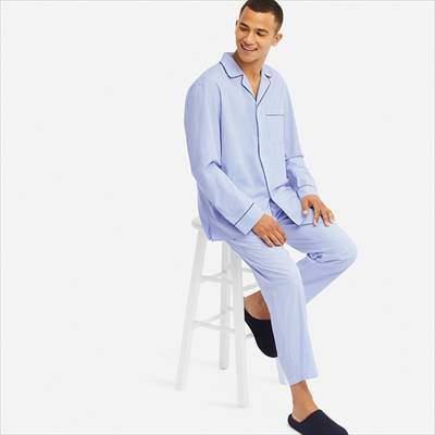 ユニクロのパジャマ(長袖)のブルー