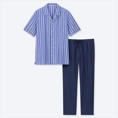 ユニクロのパジャマ(ストライプ・半袖)