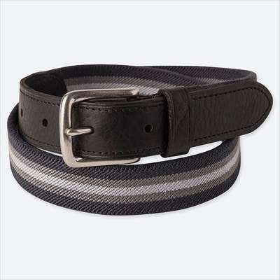 ユニクロのストレッチテープベルト(メンズ)のブラック