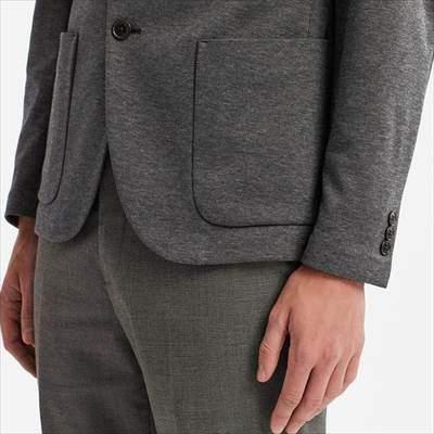 ユニクロのコンフォートジャケット(丈標準)の袖と裾